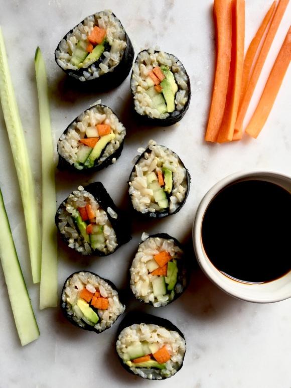 Simple Veggie SushiRolls